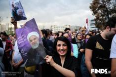 آلبوم عکس جشن و شادی مردم ایران پس از پیروزی حسن روحانی در انتخابات 96