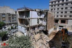 اشتباه در گودبرداری باعث تخریب ساختمان 4 طبقه در گیشا شد