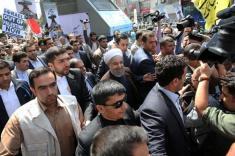 واکنش ها به شعارهای ضد حسن روحانی در روز قدس