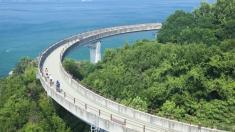 با دوچرخه در ژاپن، دریاپیمایی کنید!