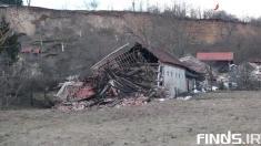 تخریب کامل 7 خانه در اثر رانش زمین در کرواسی + ویدیو