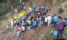 سقوط اتوبوس، جان 30 نفر را گرفت!