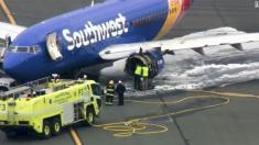 انفجار موتور هواپیمای بویینگ جان یک نفر را گرفت
