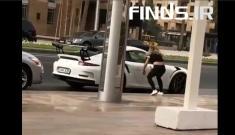 حمله دختر جوان به پورشه گران قیمت در دوبی!