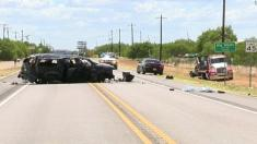 تصادف یک شاسی بلند با 160 کیلومتر سرعت و 14 سرنشین!