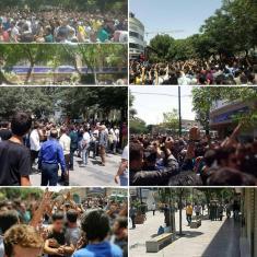 اعتراضات در بازار تهران با آتش زدن اموال عمومی به پایان رسید