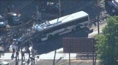ویدیو / تصادف اتوبوس با قطار!